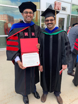 suresh and Joe at graduation